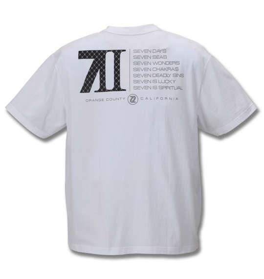 大きいサイズ メンズ SEVEN2 半袖 Tシャツ ホワイト 1168-9263-1 3L 4L 5L 6L