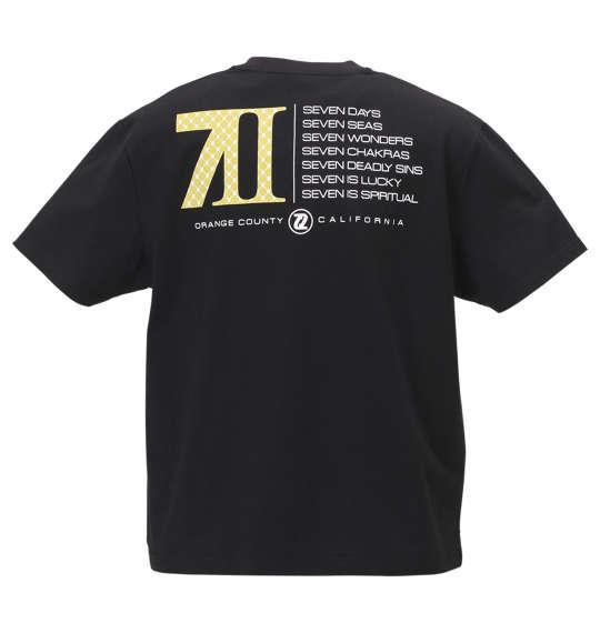 大きいサイズ メンズ SEVEN2 半袖 Tシャツ ブラック 1168-9263-2 3L 4L 5L 6L