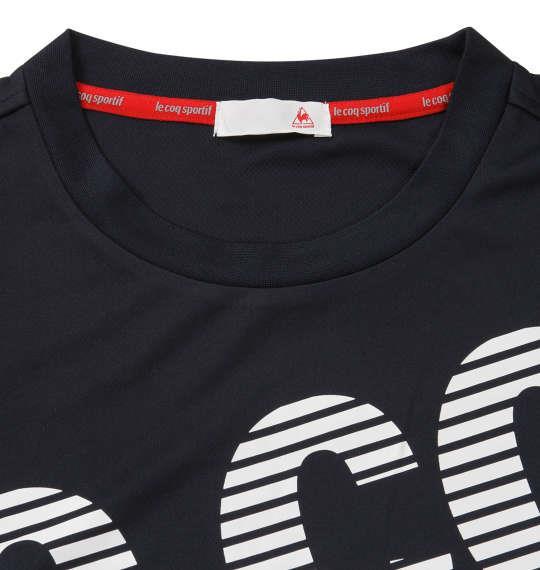 大きいサイズ メンズ LE COQ SPORTIF ソフト ダブル メッシュ 半袖 Tシャツ ネイビー 1178-9261-1 2L 3L 4L 5L 6L