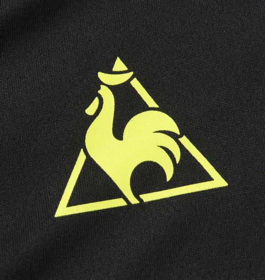 大きいサイズ メンズ LE COQ SPORTIF ソフト ダブル メッシュ 半袖 ポロシャツ ブラック 1178-9262-2 2L 3L 4L 5L 6L