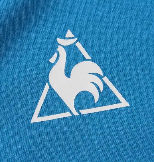 大きいサイズ メンズ LE COQ SPORTIF ソフト ダブル メッシュ 半袖 ポロシャツ ブルードゥアジュール 1178-9262-5 2L 3L 4L 5L 6L