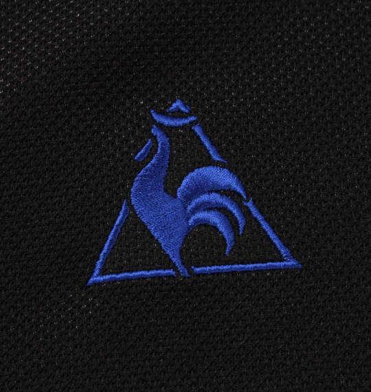 大きいサイズ メンズ LE COQ SPORTIF 3D 鹿の子 半袖 ポロシャツ ブラック 1178-9263-2 2L 3L 4L 5L 6L