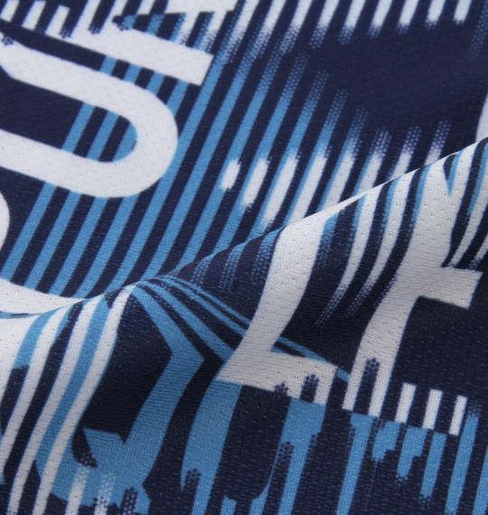 大きいサイズ メンズ LE COQ SPORTIF サンスクリーン ピンメッシュ ハーフジップ 半袖 シャツ ブルードゥアジュール 1178-9264-1 2L 3L 4L 5L 6L