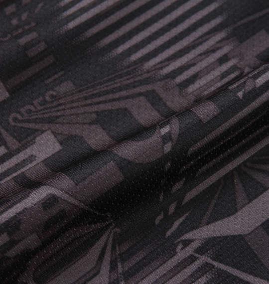 大きいサイズ メンズ LE COQ SPORTIF サンスクリーン ピンメッシュ ハーフジップ 半袖 シャツ ブラック 1178-9264-2 2L 3L 4L 5L 6L