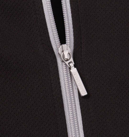 大きいサイズ メンズ LE COQ SPORTIF エアロ ドライ ニット ハーフジップ 半袖 シャツ ブラック 1178-9265-2 2L 3L 4L 5L 6L