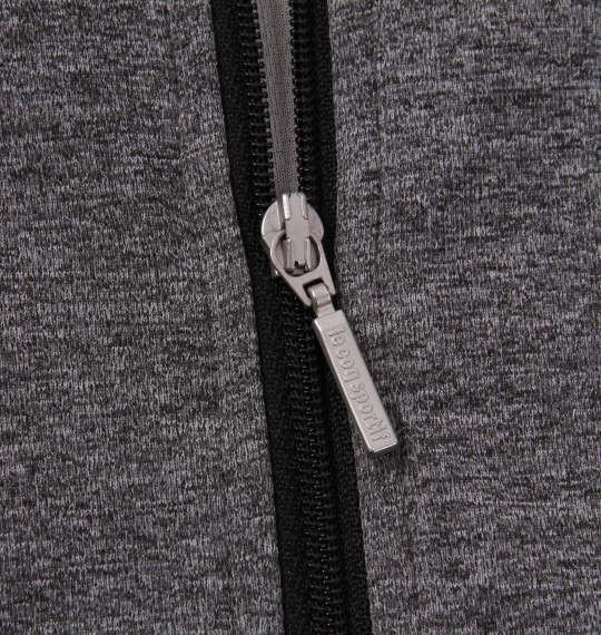 大きいサイズ メンズ LE COQ SPORTIF エアロ ドライ ニット ハーフジップ 半袖 シャツ チャコール杢 1178-9265-4 2L 3L 4L 5L 6L