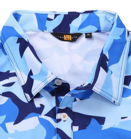 大きいサイズ メンズ LOUDMOUTH プレミアム カノコ 総柄 半袖 シャツ シャークカモ 1178-9275-1 3L 4L 5L 6L