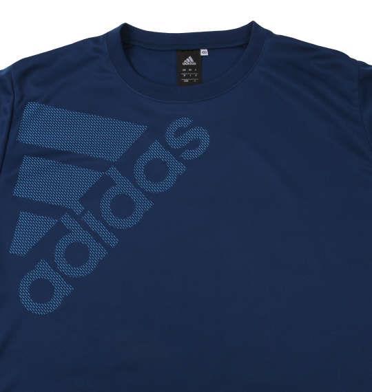 大きいサイズ メンズ adidas ビッグロゴ 半袖 Tシャツ ネイビー 1178-9281-1 3XO 4XO 5XO 6XO 7XO 8XO