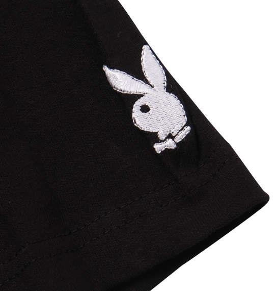 大きいサイズ メンズ PLAY BOY カラー分解 プリント & 刺繍 半袖 Tシャツ ブラック 1178-9285-2 3L 4L 5L 6L 8L
