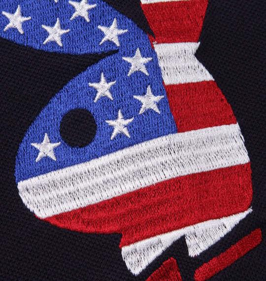 大きいサイズ メンズ PLAY BOY 鹿の子 プリント & 刺繍 半袖 ポロシャツ ネイビー 1178-9286-1 3L 4L 5L 6L 8L