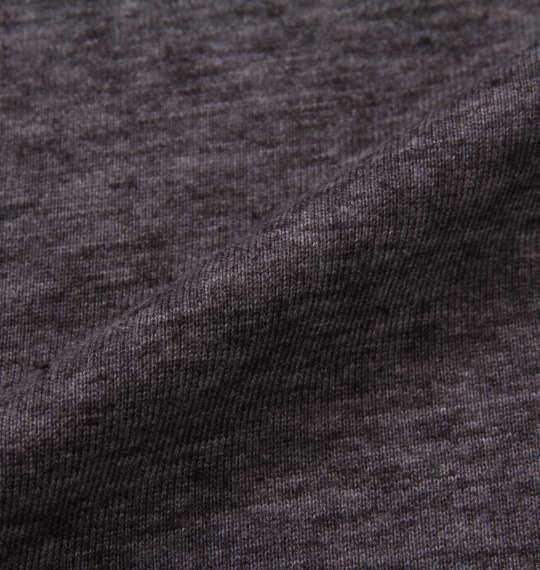 大きいサイズ メンズ PLENTY TOUGH SPORT 半袖 T パーカー ブラック × チャコール杢 1178-9290-2 3L 4L 5L 6L