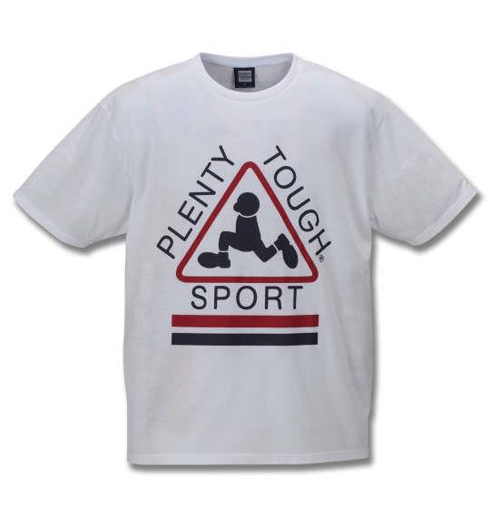 大きいサイズ メンズ PLENTY TOUGH SPORT 半袖 Tシャツ ホワイト 1178-9291-1 3L 4L 5L 6L