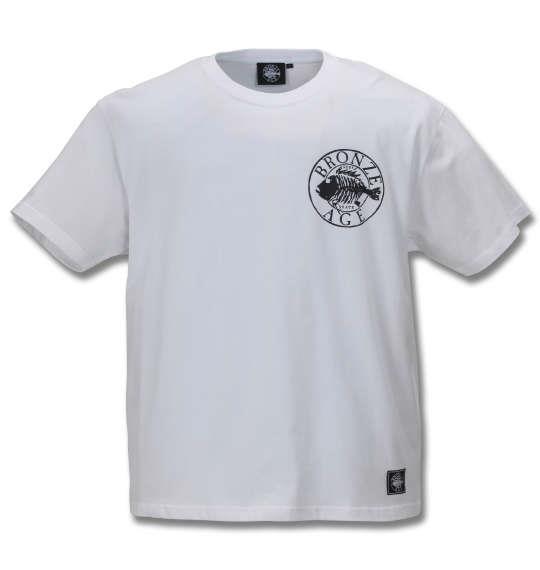 大きいサイズ メンズ BRONZE AGE 半袖 Tシャツ ホワイト 1178-9510-1 3L 4L 5L 6L 8L