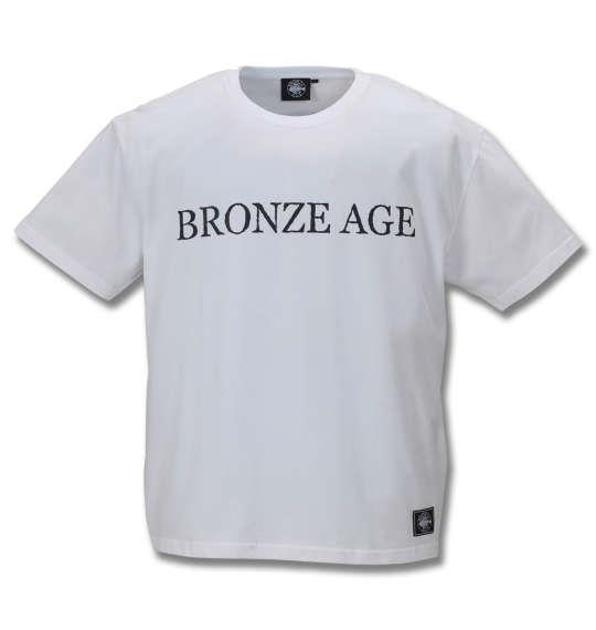 大きいサイズ メンズ BRONZE AGE 半袖 Tシャツ ホワイト 1178-9511-1 3L 4L 5L 6L 8L