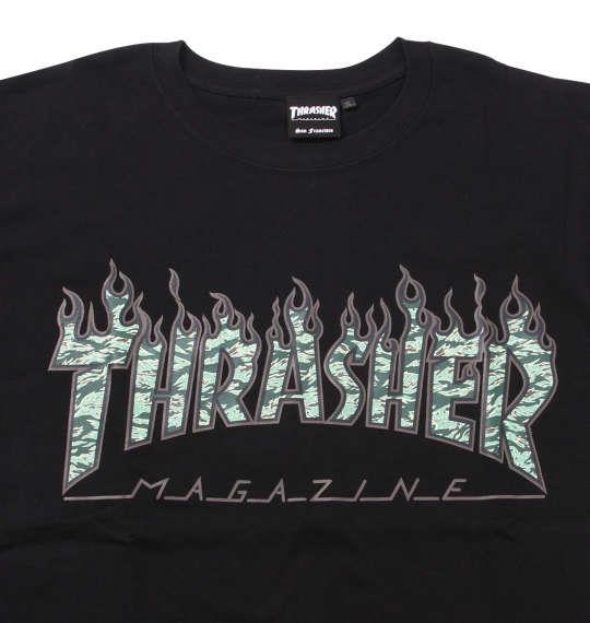 大きいサイズ メンズ THRASHER 半袖 Tシャツ ブラック 1178-9570-2 3L 4L 5L 6L 8L