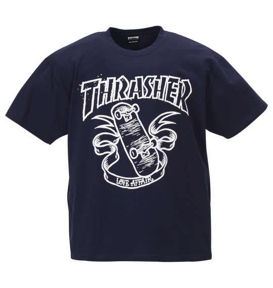 大きいサイズ メンズ THRASHER 半袖 Tシャツ ネイビー 1178-9571-1 3L 4L 5L 6L 8L