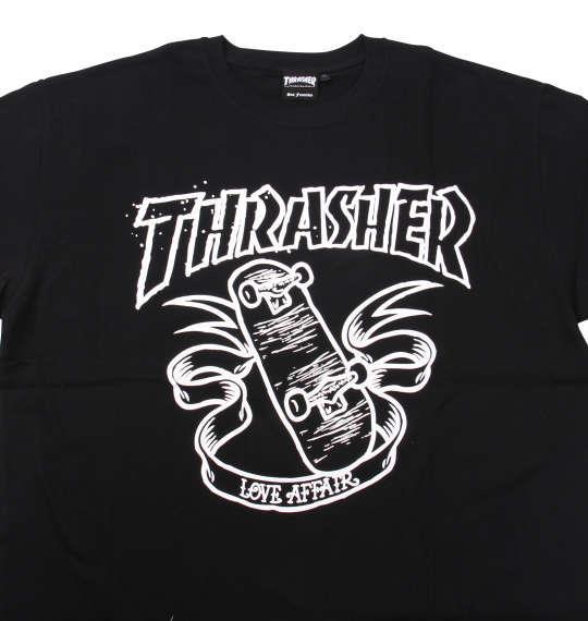 大きいサイズ メンズ THRASHER 半袖 Tシャツ ブラック 1178-9571-2 3L 4L 5L 6L 8L