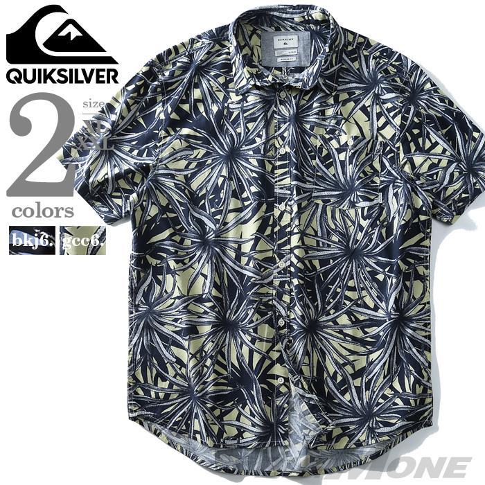 ブランドセール 大きいサイズ メンズ Quiksilver クイックシルバー 総柄 半袖 カジュアル シャツ Bathursts Bats USA直輸入 eqywt03804
