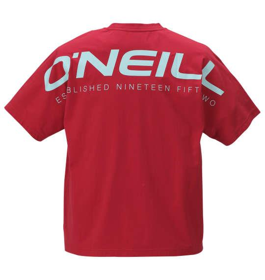 大きいサイズ メンズ O'NEILL 半袖 Tシャツ レッド 1178-9216-1 3L 4L 5L 6L