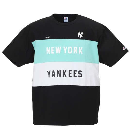 大きいサイズ メンズ Majestic 半袖 Tシャツ ブラック 1178-9295-2 3L 4L 5L 6L