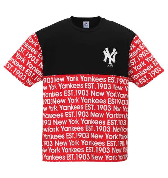 大きいサイズ メンズ Majestic 半袖 Tシャツ レッド 1178-9296-1 3L 4L 5L 6L