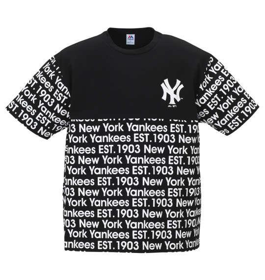 大きいサイズ メンズ Majestic 半袖 Tシャツ ブラック 1178-9296-2 3L 4L 5L 6L