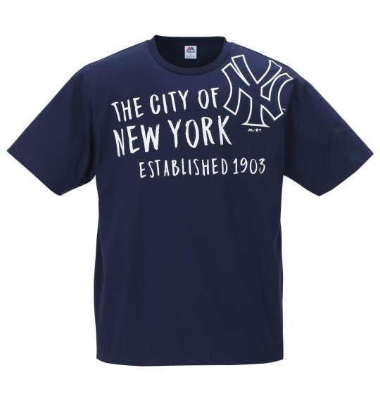 大きいサイズ メンズ Majestic 半袖 Tシャツ ネイビー 1178-9297-1 3L 4L 5L 6L