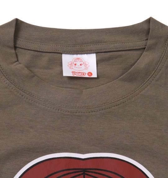 大きいサイズ メンズ PeKo&PoKo カラー プリント 半袖 Tシャツ ライトカーキ 1178-9505-1 3L 4L 5L 6L 8L