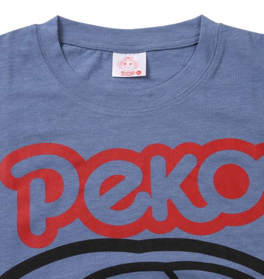 大きいサイズ メンズ PeKo&PoKo ビッグフェイス プリント 半袖 Tシャツ ブルー杢 1178-9506-1 3L 4L 5L 6L 8L