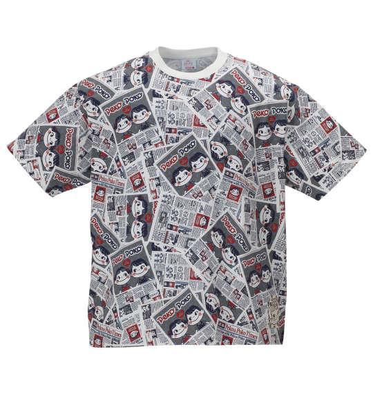 大きいサイズ メンズ PeKo&PoKo 総柄 プリント 半袖 Tシャツ ホワイト系 1178-9507-1 3L 4L 5L 6L 8L