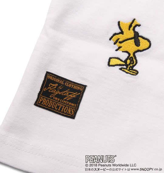 大きいサイズ メンズ FLAGSTAFF × PEANUTS スヌーピーコラボ 半袖 Tシャツ ホワイト 1178-9536-1 3L 4L 5L 6L 8L