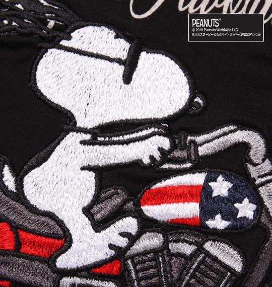 大きいサイズ メンズ FLAGSTAFF × PEANUTS スヌーピーコラボ 半袖 Tシャツ ブラック 1178-9536-2 3L 4L 5L 6L 8L