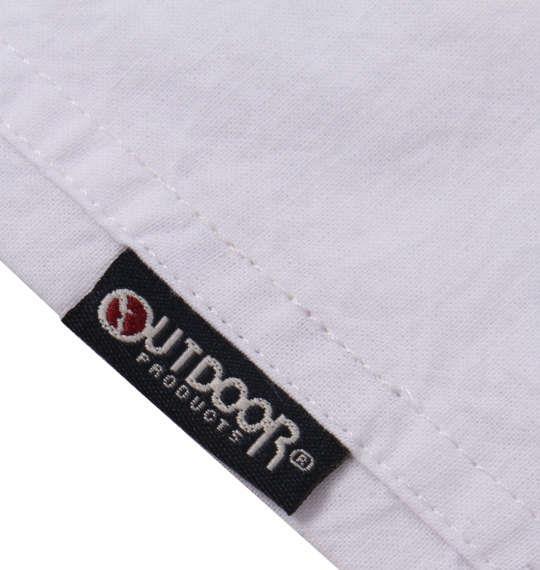 大きいサイズ メンズ OUTDOOR PRODUCTS 異素材使い 綿麻 半袖 シャツ オフホワイト 1157-9200-1 3L 4L 5L 6L 8L