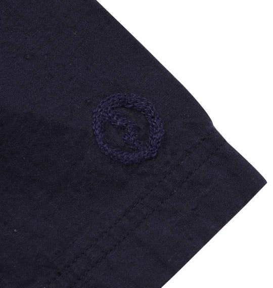 大きいサイズ メンズ OUTDOOR PRODUCTS 異素材使い 綿麻 半袖 シャツ ネイビー 1157-9200-2 3L 4L 5L 6L 8L