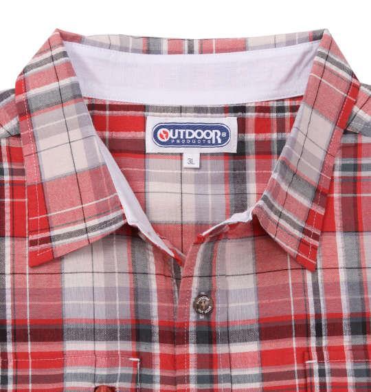 大きいサイズ メンズ OUTDOOR PRODUCTS チェック 半袖 マウンテン シャツ オレンジ 1157-9201-1 3L 4L 5L 6L 8L