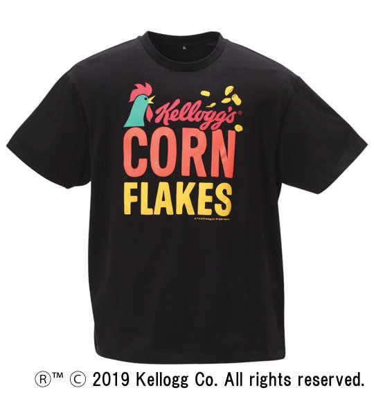 大きいサイズ メンズ 企業コラボ Tシャツ ケロッグコーンフレーク 半袖 Tシャツ ブラック 1178-9228-1 3L 4L 5L 6L 8L