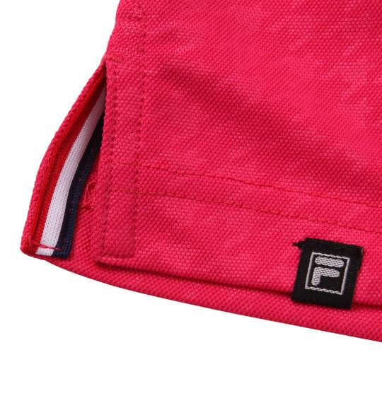 大きいサイズ メンズ FILA GOLF チドリエンボス 半袖 ポロシャツ ピンク 1178-9255-2 3L 4L 5L 6L