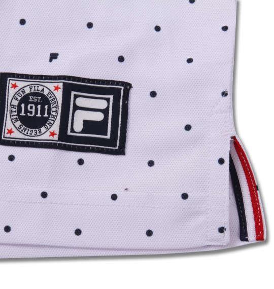 大きいサイズ メンズ FILA GOLF ドット柄 半袖 ポロシャツ ホワイト 1178-9256-1 3L 4L 5L 6L