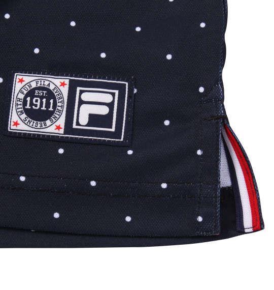 大きいサイズ メンズ FILA GOLF ドット柄 半袖 ポロシャツ ネイビー 1178-9256-2 3L 4L 5L 6L