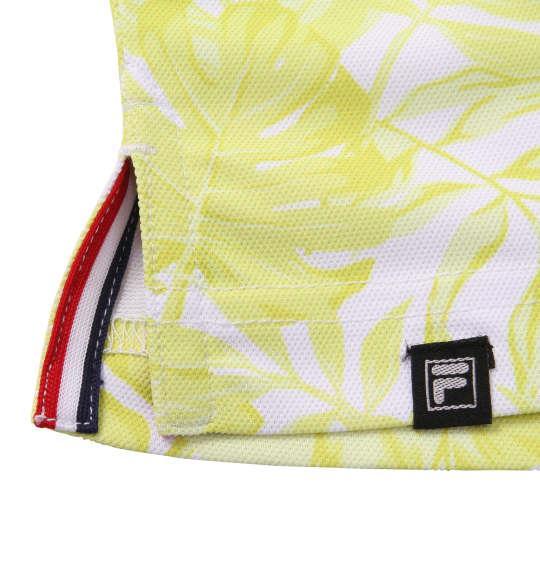 大きいサイズ メンズ FILA GOLF トロピカル柄 半袖 ポロシャツ ライム 1178-9257-1 3L 4L 5L 6L