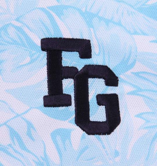 大きいサイズ メンズ FILA GOLF トロピカル柄 半袖 ポロシャツ ブルー 1178-9257-2 3L 4L 5L 6L