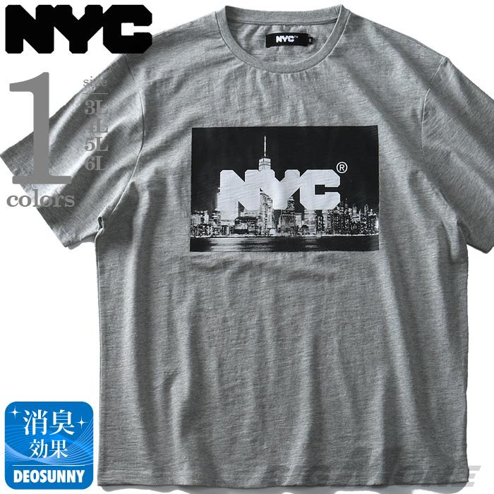大きいサイズ メンズ NYC スラブ プリント 半袖 Tシャツ 春夏新作 azt-1902118
