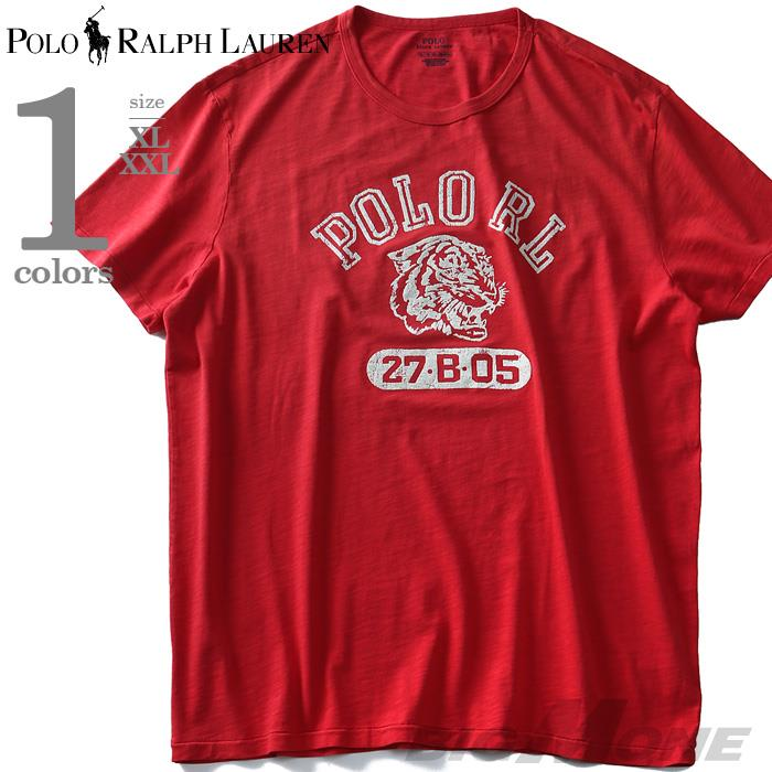 大きいサイズ メンズ POLO RALPH LAUREN ポロ ラルフローレン プリント 半袖 Tシャツ USA直輸入 710742026001