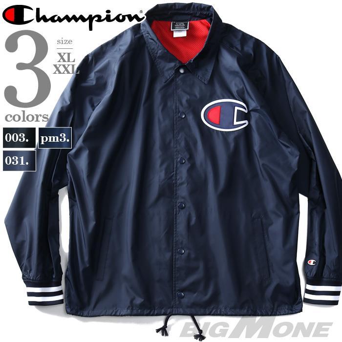 大きいサイズ メンズ Champion チャンピオン コーチ ジャケット USA直輸入 v5089