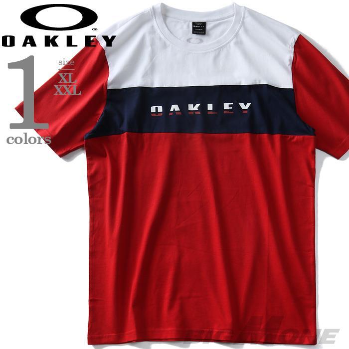 大きいサイズ メンズ OAKLEY オークリー 半袖 切替 Tシャツ USA直輸入 oky457644ovt