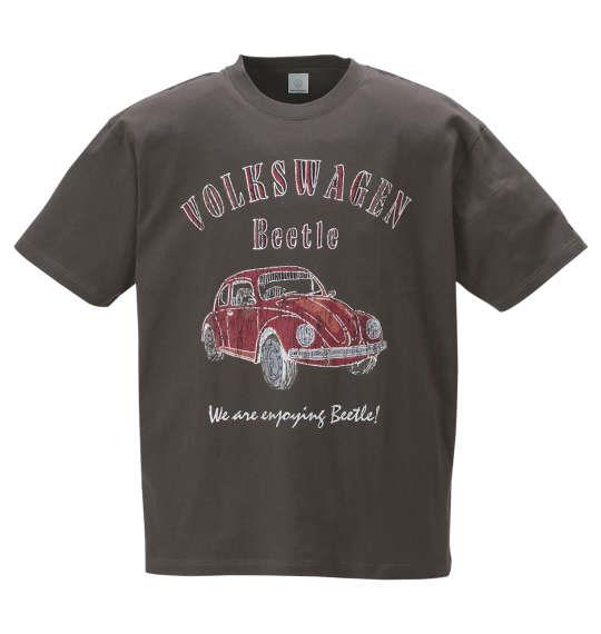 大きいサイズ メンズ VOLKSWAGEN 半袖 Tシャツ ダークグレー 1168-9235-2 3L 4L 5L 6L 8L