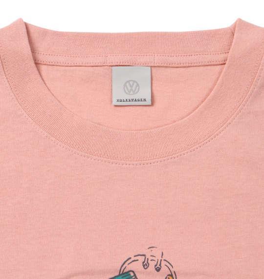 大きいサイズ メンズ VOLKSWAGEN 半袖 Tシャツ ライトオレンジ 1168-9236-2 3L 4L 5L 6L 8L