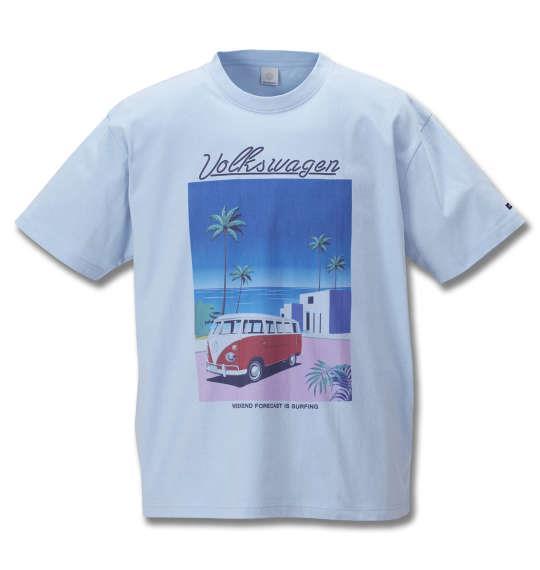 大きいサイズ メンズ VOLKSWAGEN 半袖 Tシャツ サックスブルー 1168-9237-2 3L 4L 5L 6L 8L