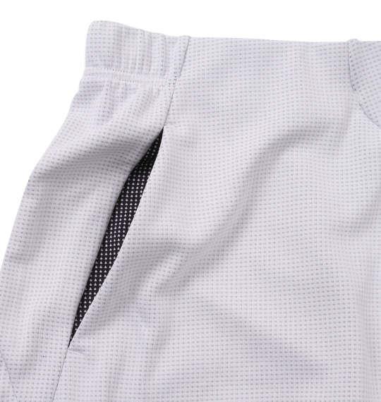大きいサイズ メンズ DESCENTE スクエアメッシュ ハーフパンツ ホワイト × ネイビー 1174-9230-1 3L 4L 5L 6L