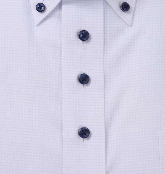 大きいサイズ メンズ HIROKO KOSHINO HOMME B.D 半袖 シャツ ホワイト × サックス 1177-9232-1 3L 4L 5L 6L 7L 8L